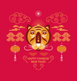 chinese happy new year 2022 year tiger vector image