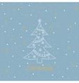 Christmas card balls snowflakes tree vector image vector image