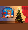 christmas indoor theme 4 vector image vector image