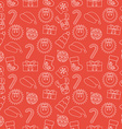 Christmas Seamless doodle background Red vector image vector image