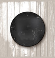 circle blackboard at white wooden backdrop vector image vector image