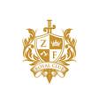 coat arms heraldic luxury logo design concept