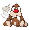 cute rabbit cartoon character vector image vector image