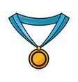 drawing medal award win sport image vector image vector image