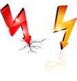 Electricity warning symbols vector image