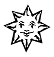 emblem sun black and white solar sign vector image