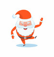 funny happy santa claus character christmas cards vector image vector image