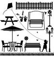 garden yard field park outdoor child a vector image