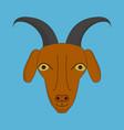 goat head cartoon icon vector image vector image