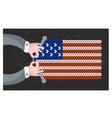 Hand made flag of the USA vector image