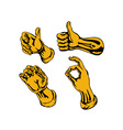 Hands Collection Retro vector image vector image