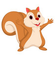 happy squirrel cartoon vector image vector image