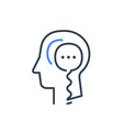 human head profile and speech bubble psychology vector image vector image