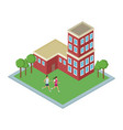 isometric building use with green zones vector image vector image