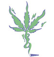joint spliff with smoke that creates the vector image
