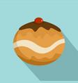 judaism sweet bakery icon flat style vector image