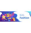 kids fashion concept banner header vector image vector image