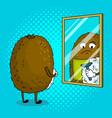 kiwi fruit shaves pop art vector image vector image