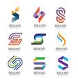 letter s logo template design logo set vector image vector image