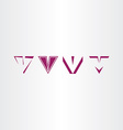 letter v icon sign v set collection logo vector image