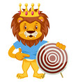 lion with target on white background vector image vector image