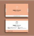 minimal business card print template design vector image
