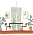 modern elegant dining room interior with table and vector image vector image