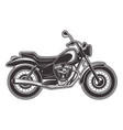 motorcycle monochrome detailed vector image vector image