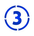 number 3 icon vector image