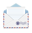 Open envelope with paper vector image vector image