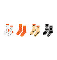 pair socks with halloween patterns vector image