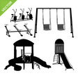 Playground silhouettes vector image vector image
