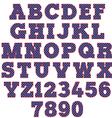 polka dot alphabet vector image vector image