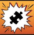puzzle piece sign comics style icon