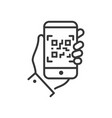 qr code scanner - line design single isolated icon vector image
