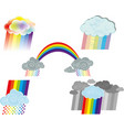 rainbow clouds symbols vector image vector image