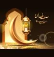 ramadan mubarak or kareem greeting card religion vector image
