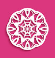 round lace ornament vector image vector image