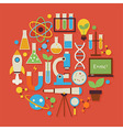 Science and Education Flat Design Circle Shaped vector image vector image