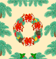 Seamless texture christmas wreath with bow vector image vector image