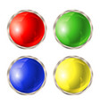 set colored buttons vector image vector image