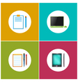 Set Icons for Office Work and Business vector image vector image
