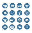 simple set diaper related icons vector image