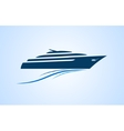 simply and clear logo yacht at the sea vector image vector image