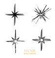 star retro star star background black vector image