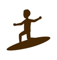 surfer man silhouette vector image vector image