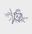 tattoo with panda vector image vector image