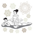 thai massages style in colorful with hand drawn vector image