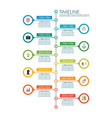 timeline chart infographic vector image vector image
