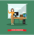tour operator in flat style vector image